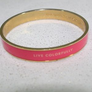Kate Spade Pink and Gold Live Colorfully Bangle